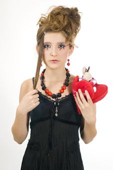Free Girl Holding A Valentine S Present Royalty Free Stock Photography - 7814007