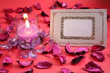Free Blank Greeting Card With Candle Stock Image - 7814121
