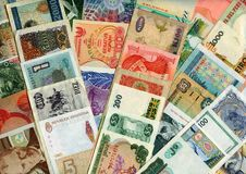 Free Currencies From Around The World, Paper Banknotes. Stock Photos - 7814143