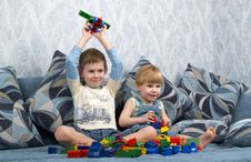 Free Two Boys Play Toys Stock Photos - 7814623