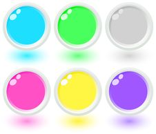 Free Set Of Glass Buttons Stock Photography - 7815712