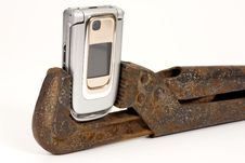 Free Spanner And Telephone. Stock Photos - 7815813