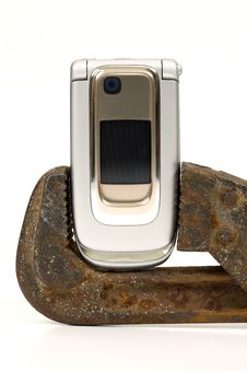 Free Spanner And Telephone. Stock Photography - 7815822