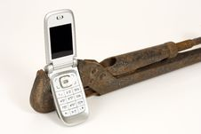 Free Spanner And Telephone. Royalty Free Stock Image - 7815836
