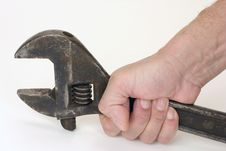 Free Spanner In Hand. Stock Photography - 7815892