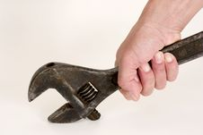Free Spanner In Hand. Royalty Free Stock Image - 7815916