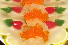 Appetizer From Caviar And Fish. Stock Photo
