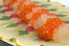 Appetizer From Caviar And Fish. Royalty Free Stock Image