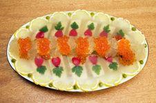 Free Jellied Fish With Caviar. Stock Photos - 7816173