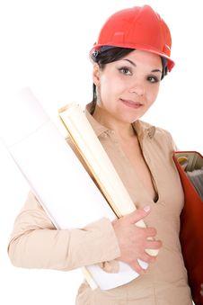 Free Female Architect Stock Photography - 7816182