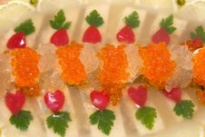 Jellied Fish With Caviar. Royalty Free Stock Image
