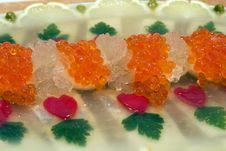 Jellied Fish With Caviar. Stock Photos