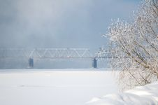 Free Winter View On The Riverside Royalty Free Stock Images - 7816229