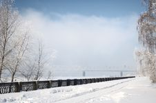Free Winter View On The Riverside Stock Image - 7816301