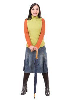 Free Woman With Umbrella Stock Photos - 7816383