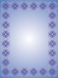 Delicate Blue Frame - Vector Royalty Free Stock Image
