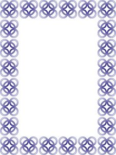 Delicate Blue Border - Vector Royalty Free Stock Photo