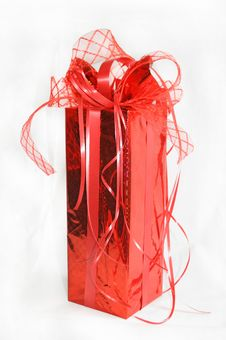 Red Gift. Royalty Free Stock Photos