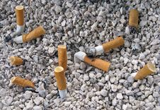 Free Ashtray And Cigarettes Butts Royalty Free Stock Photo - 7816945