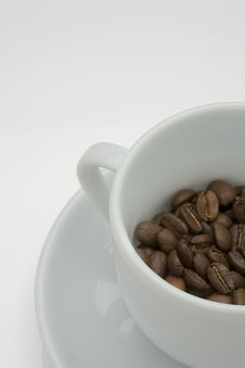 Free Coffee Bean In A Cup Stock Image - 7817141
