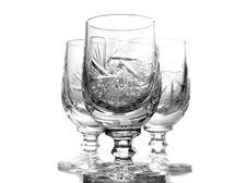 Free Three Crystal Glasses Royalty Free Stock Photography - 7817817