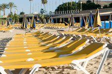 Free Hammocks Near The Seaside In Yellow Royalty Free Stock Photography - 7817887