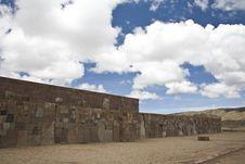 Tiwanaku Or Tiahuanaco Royalty Free Stock Photos