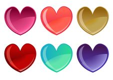 Free Beautifull Hearts Icon Set Stock Photography - 7818782