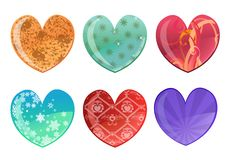 Free Hearts Icon Set Royalty Free Stock Photo - 7818795