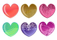 Free Beautifull Hearts Icon Set Stock Photo - 7818800