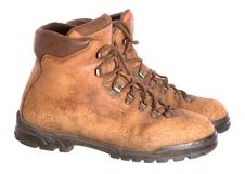 Free Pair Of Old Worn Walking Boots Stock Images - 7818924