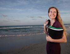 Free Secretary On The Beach Royalty Free Stock Photo - 7819035