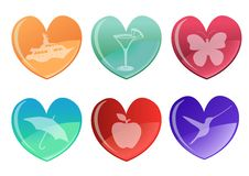 Free Beautifull Hearts Icon Set Royalty Free Stock Image - 7819116