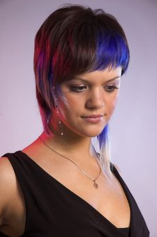 Free The Girl With A Creative Hair Stock Image - 7819321