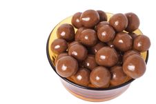 Small Chocolate Balls Stock Photos