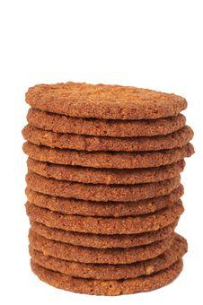 Big Chocolate Cookies Stock Images