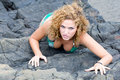 Free Girl On The Rocks Stock Photos - 7820843