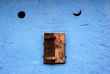 Free Little Close Window And Blue Wall Stock Photos - 7821223