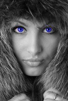 Free Woman In Fur Cap Stock Photos - 7821483