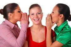 Three Happy Friends Stock Photography