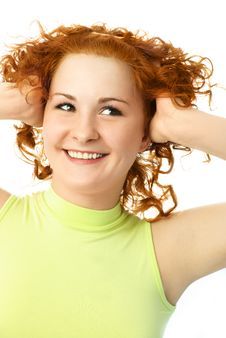 Free Cheerful Ginger Girl Stock Images - 7822134