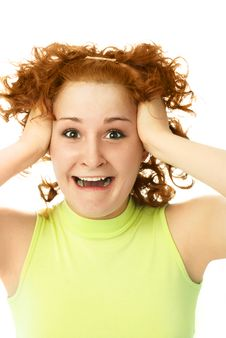 Free Frustrated Woman Tearing Her Hair Royalty Free Stock Photo - 7822145