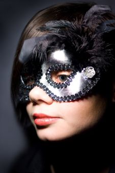 Free Static Woman In Mask Royalty Free Stock Images - 7822269