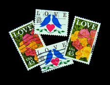 Free US Love Postage Stamps Stock Images - 7822384
