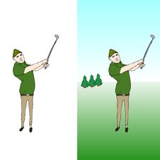Free Golfer Royalty Free Stock Photo - 7823055