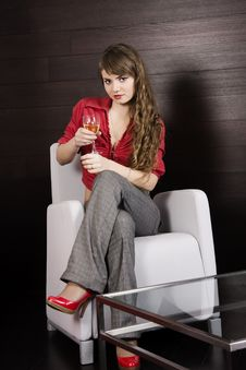 Free Blonde Holding A Wineglass Stock Images - 7823074