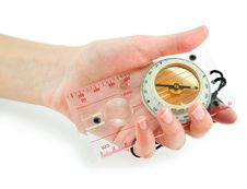 Free Female Hand Holds Transparent Liquid Compass Royalty Free Stock Photography - 7823107