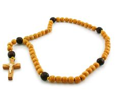 Free Wooden Rosary And Cross Royalty Free Stock Photo - 7823135