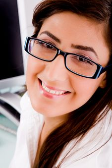 Free Portrait Of Woman In Office Wearing Glasses Royalty Free Stock Image - 7823796