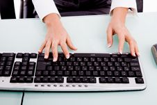 Free Close View Of Hands Operating On Keyboard Royalty Free Stock Images - 7823909